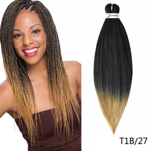 New Pre-stretched Professional EZ Braiding Hair Perm Yaki Jumbo Braids Synthetic Hair Hot Water Easy Braid