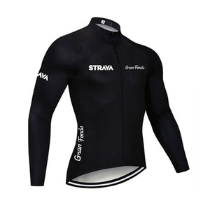 2019 STRAVA mens Cycling Jerseys Bicycle Shirt Long Sleeve maillot ropa ciclismo bicycle Clothing Mountaion Bike tops K092607