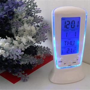 Hot LED Digital Clock LCD Desk Music Alarm Tower Clock Calendar+Thermometer Digital Thermometer Alarm Clock Calendar Weather Station Clocks