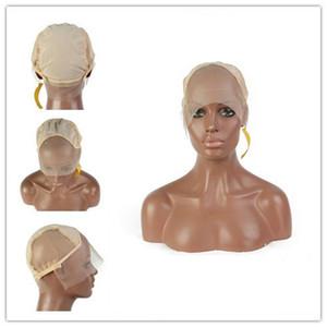 Capsules de perruque en dentelle pour la perruque de cheveux humains Complète Cap en dentelle Cap avant de dentelle pour faire des perruques avec des sangles réglables