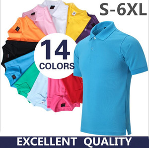 High Quality Tops&Tees Men's Polo shirts Business men brands Cotton Polo Shirts embroidery Turn-down collar mens polo shirt S-5XL
