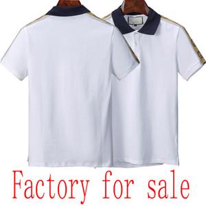 20SS Sommerbaumwollnormallack der neue Art Marken-Männer Polo Top-Qualität Luxus Herren-Polohemd Fabrik zum Verkauf
