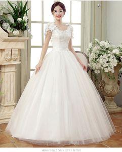Cap vestidos de boda del cordón de la vendimia mangas largas vestidos de bola del tren de boda Vestidos Cerimonia 2020 Vestido de Noiva Princesa