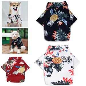 Slap-up Hundekostüm Sommer Katze, Hund, Kleidung Hawaii gedruckt Shirt Haustier Hund Kleidung für Kätzchen Welpen Teddy Bichon Shiba Inu Dekoration