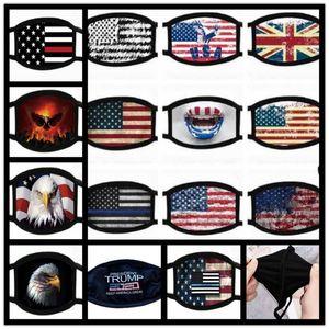 Baskı Maske Evrensel İçin Erkekler Ve Kadınlar Amerikan Bayrağı toz korumalı Yüz Maskeleri Trump Amerikan Seçim Malzemeleri Ücretsiz Kargo Maske