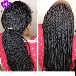 Sintetico intrecciato merletto anteriore parrucche per le donne nere 1b termoresistente 28 pollici dei capelli della treccia Parrucche Premium intrecciato Twist parrucca Trecce