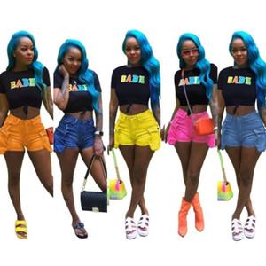 Womens designer shorts 데님 반바지 캐주얼 한 스트레이트 레그 팬츠 편안한 피팅 바지 새로운 스타일의 진 반바지 klw1124