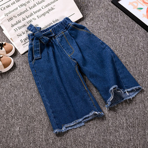 New Summer Item Girl Fashion Wide Leg Jeans Pant Denim Trousers