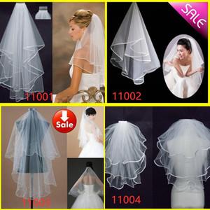Em armazém Best Selling mais barato Chapel longo costume véu de noiva Comprimento feita Bridal Veil apliques de casamento véu de renda com Comb
