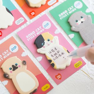 Cute Cat Serie Sticky Note Student Messaggio Sticker N volte Memo Pad Scrapbooking Scuola Label Cancelleria