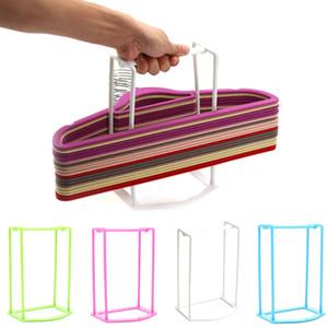 Kreative Kunststoff Kleiderbügel Rahmen Aufhänger Companion Storage Rack Kleidung Organizer Hauptdekoration Zubehör # T1P Andere Home Storage O Ständer