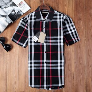 mens designer Luxury Men Shirts Short sleeve Mens Dress Shirts Cotton White Black Shirt Men Tuxedo Shirt Plus Size Slim Fit Chemise Homme