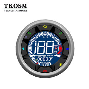 TKOSM 12 V Evrensel Motosiklet Takometre Metre LED Aydınlatmalı LCD Motosiklet Kilometre Dijital Seviye Ölçer Yağ 12000 RPM