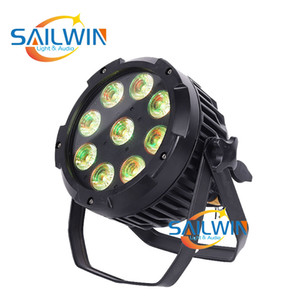 all'ingrosso del rifornimento della fabbrica di nozze partito 9 * 18W 6IN1 RGBAW UV BATTERIA stadio wireless LED PAR può illuminare