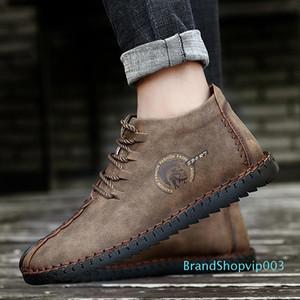 Moda Masculina Bravover New alta qualidade da neve do inverno botas Split couro tornozelo botas quentes sapatos Plus Size Fur Plush externas