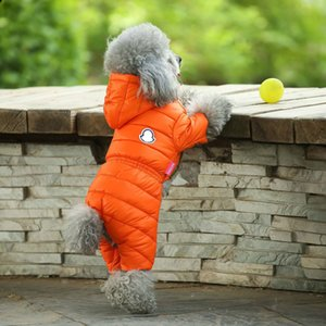 Winter Warm Down Dog Jacket Pet Dogs Costume Puppy Light-weight Four Legs Hoodie Coat Clothes For Teddy Bear Big Dog