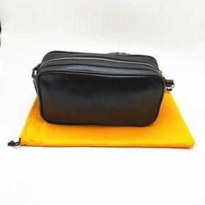 Yüksek Kaliteli Kadın Erkek Flap Omuz Çantası Moda Messenger çanta Klasik Çapraz Vücut Kamera Çantası ile Toz Torbası