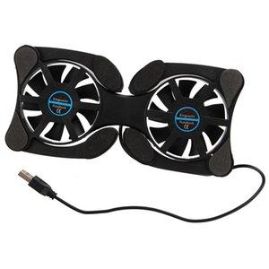 USB 2.0 External Laptop Cooler Pad Notebook Cooler 2 Fan Black For retails   Dropshipping