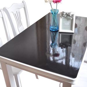 1mm à prova d 'água à prova de óleo de plástico toalha de mesa de PVC toalha de mesa de vidro macio moda pvc toalhas de mesa preto não-slip tampa da esteira de tabela