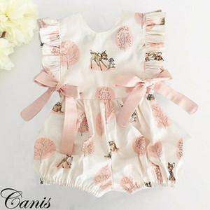 Nouveau-né Bébé Fille Cerf Grenouillère Body Combinaison Vêtement Outfit Sunsuit UK