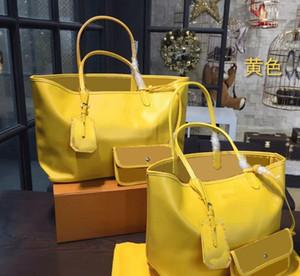 Moda Yeni GY Anne Paketi Yüksek Kapasiteli Tasarımcı Totes Çanta Alışveriş Çantası Çanta Ünlü Marka Pu Deri 2pcs / set 46cm ve 55cm