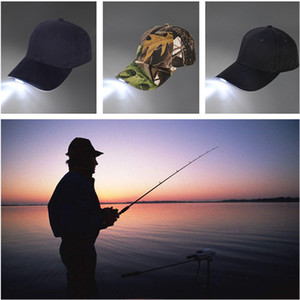 Unisex LED-helle Kappe Luminous Hut mit Knopf-Batterie-Baseballmütze für Outdoor-Grill Wandern Angeln Sport Männer Frauen Mode Caps Geschenk