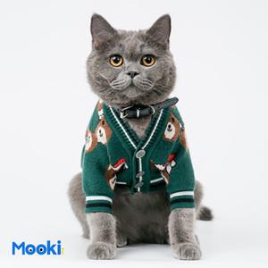 Año Nuevo preciosos suéteres Pet patrón lindo del oso de mascotas Gatos Perros Abrigo de invierno de moda de peluche Bichon Chaqueta Ropa