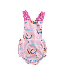 Emmababy Baby rompers 2019 Primavera Criança Rapazes Meninas florais Macacões Jumpsuits sunsuit Correia Pants infantil Roupa 0-24M