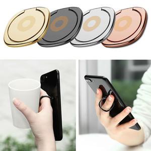 Novo 360 Degree metal Dedo anel titular Smartphone Móvel Dedo Phone Holder suporte para iPhone 7 6 Samsung Tablet com Opp Package