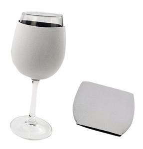 سعر المصنع بالجملة التسامي فارغة مستهلكات النيوبرين النبيذ الاحمر الغطاء الزجاجي كأس كم لDIY شخصية مخصصة الديكور المنزلي