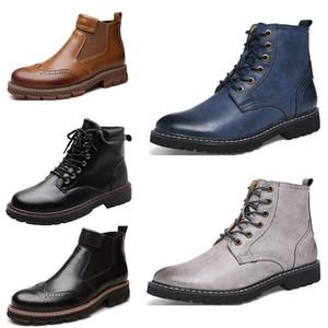 2020 barato de los zapatos corrientes de los hombres de cuero de marca no zapatos de vestir de tres botas para hombre manera se divierten las zapatillas de deporte entrenador tamaño 39-44