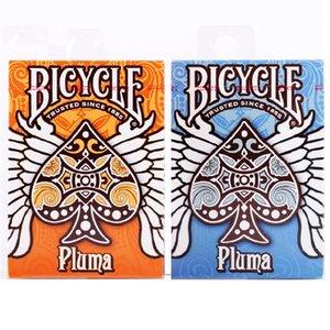 Magician Bisiklet Pluma Oynama Kartları Turuncu / Mavi Güverte USPCC Koleksiyon Poker Sihirli Kart Oyunları Magic Tricks Dikmeler