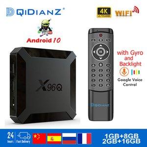 X96q android 10.0 smart TV Box allwinner h313 quad core 2gb 16gb 4k 3d netflix 10 x96 q mini set top box media player