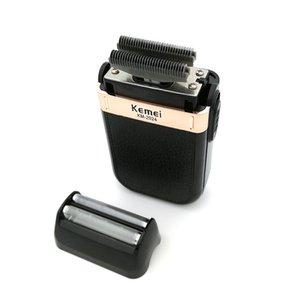 Kemei barbeador elétrico recarregável USB maquinillas de afeitar Navalha Cabelo Barba Barbear MachineBarber Trimmer bdegarden xLVqE