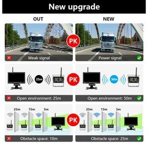 "Hot 9-36V 7"" Monitor Camera Rear View Kit 2.4G Display Monitor Night Vision Reversing 50 meters Long Transmission range Car Moni"