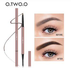 O.TWO.O Ultra Fine Triangle Eyebrow Pencil preciso Brow Definer Long Lasting impermeabile Biondi Colore degli occhi Brow trucco 6 colori
