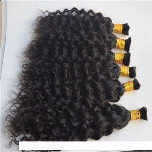 3 bundles Water Wave Bulk Human Hair For Braiding Unprocessed Human Braiding Hair Bulk No Weft