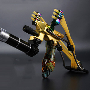 Catapulta láser tirachinas nueva llegada potente caza banda de goma al aire libre tubo PU cuero táctico profesional Honda tiro de bola