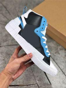 2019 heißer Verkaufs-Sacai x Mid Blazer Yellow Varsity Red Mais Weiß Blau Herren-Basketball-Schuhe Sportschuhe