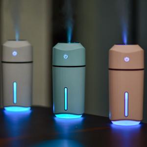 320ml Mini Hava Nemlendirici USB Ultrasonik Nemlendirici Araç Aroma Diffuser Elektrikli Esansiyel Yağı Yayıcı Kupası 7 Renkli LED Işıklar