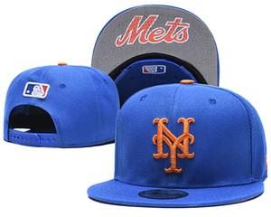 Оптовая Высокое Качество Mets Snapback Шляпы Gorras Вышитое Письмо Логотип Команды Бренды Хип-Хоп Дешевые Спорт Бейсбол Регулируемые Шапки Кости