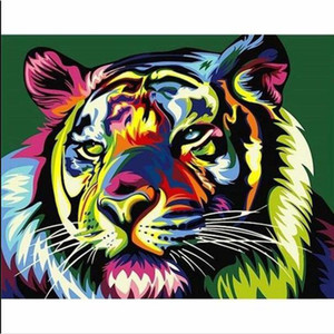 Full Square Diamond Painting Colorful tiger 5D DIY Diamond Embroidery Mosaic Art Kits Home Decoration