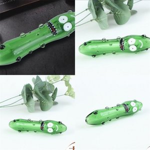 Mini Recycler Tall Bong Water Green Hookahs Glass Oil Burner Pipe Cartoon Mouth Face Straight Tube Bongs 11qj C2