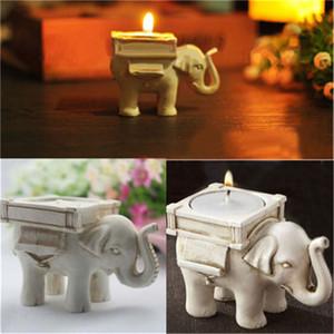 1 unid Retro Elefante Titular de la Vela Candelabro de Boda Decoración Del Hogar Artesanía té tenedores de la luz titular búho candelita