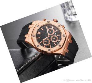 Montres luxe Explosion des modèles hommes Hommes Sport montre-bracelet à quartz Homme Table unique fois Silicone Big Clock Homme
