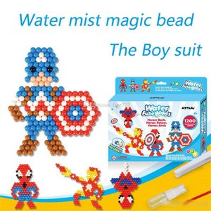Hot Water Aqua beads toys perler sticky beads pegboard set fuse beads jigsaw puzzle Water magic bead beadbond juguetes educativos para niños