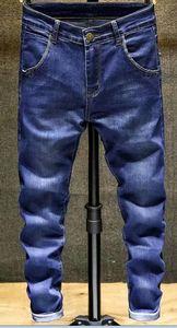 Fashion Designer Skinny Jeans Men Straight slim elastic jeans Mens Casual Biker Male Stretch Denim Trouser Classic Pants