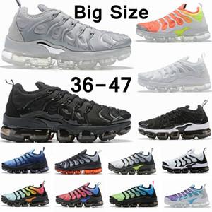 2020 TN Plus Chaussures кроссовки большого размера для женщин Mens Colorways Тройных Белых Черных Тренеров Спорта на открытом воздухе кроссовок 36-47