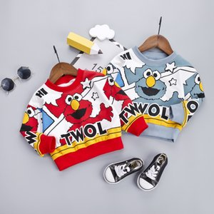 Childrenswear BOY'S 2019 Autumn New Style Children 100% Cotton Coat 01-4 Years Old Baby Korean-style Hoodie Kids Sweater