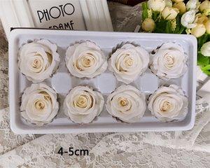 8 pezzi / scatola fiori conservati di alta qualità fiore immortale rosa diametro 5 cm festa di nozze decorazioni natalizie regalo festa della mamma